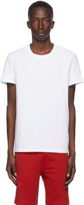 Balmain White Embossed Logo Sleeve T-Shirt