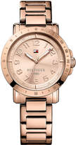 Tommy Hilfiger Women's Rose Gold-Tone Stainless Steel Bracelet Watch 38mm 1781396