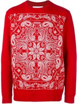 White Mountaineering paisley print sweatshirt - men - Cotton - 1