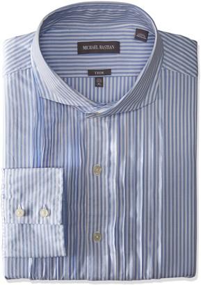 Michael Bastian Men's Slim Fit Pintuck Tux Bib Spread Collar Dress Shirt