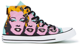 Converse Chuck Taylor All Star Warhol Hitop Trainers - Lichen/orchid Smoke/white