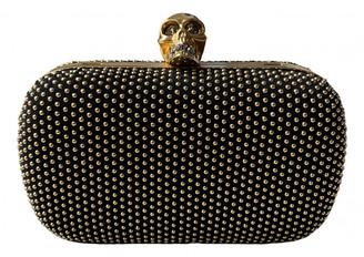 Alexander McQueen Skull Gold Leather Clutch bags