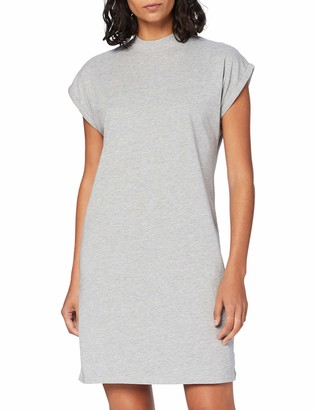 Build Your Brand Women's Ladies Turtle Extended Shoulder Dress Casual
