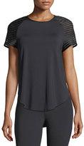 Michi Banda Crewneck Short-Sleeve Top