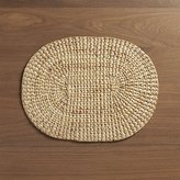 Crate & Barrel Water Hyacinth Oval Placemat