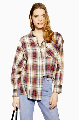 Topshop Camel Check Shirt