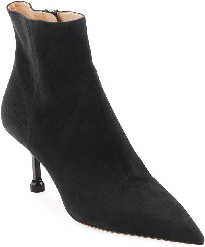fa03e82b Suede Pointed-Toe Booties