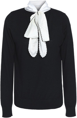 Raoul Pussy-bow Cotton-blend Top