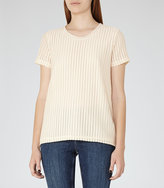 Reiss Tuesday Textured Short-Sleeved Top