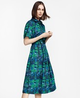 Brooks Brothers Floral-Print Supima Cotton Sateen Shirt Dress