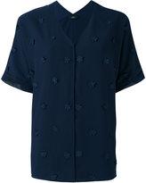 Steffen Schraut flower embellished shirt - women - Polyester - 36
