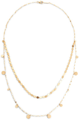 Lana 14k Gold 2-Strand Dangle Necklace