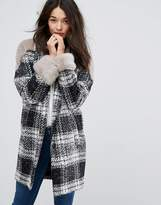 Urban Code Urbancode Faux Fur Panel Coat
