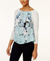 Calvin Klein Jeans Printed Pleated Top