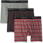 Kenneth Cole New York Men's Boxer Brief Set Stripe and Herringbone