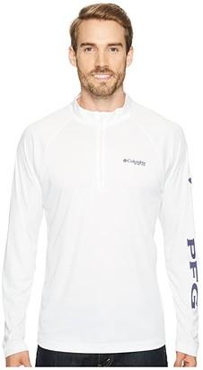 Columbia Terminal Tackle 1/4 Zip (White/Nightshade) Men's Clothing