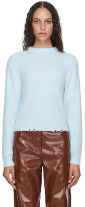 Tibi Blue Fondue Crewneck Sweater