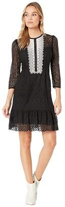 Nanette Lepore Victorian Lace Dress (Black) Women's Dress