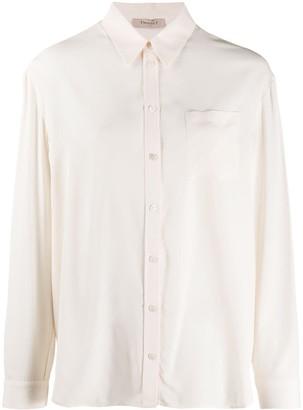 Twin-Set Sheer Long-Sleeve Shirt