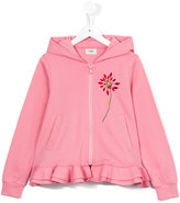 Fendi ruffled hem hoodie - kids - Cotton - 4 yrs