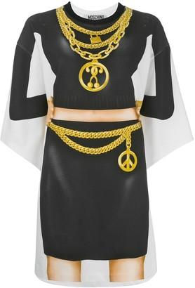 Moschino silhouette print T-shirt dress