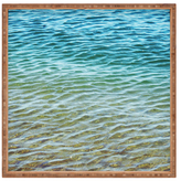 DENY Designs Ombre Sea Square Tray