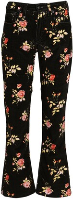 R 13 Kick Fit Floral High-Rise Jeans