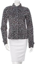 Dolce & Gabbana Casual Leopard Print Jacket