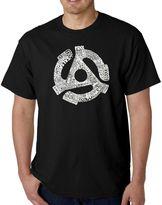 Men's Word Art 45 Adapter T-Shirt in Black