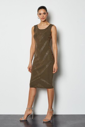 Karen Millen Embellished Bandage Knit Dress