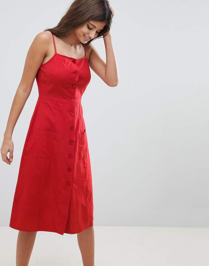 340ec82050 Linen Button Through Dress - ShopStyle UK