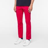 Paul Smith Men's Slim-Fit Fuchsia Mercerised-Cotton Trousers