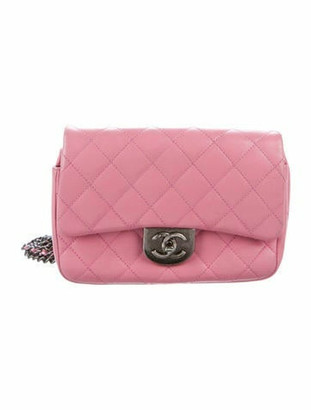 Chanel Flap Bag W/ Waist Chain Pink