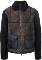 Giorgio Brato panelled jacket - men - Sheep Skin/Shearling - 52