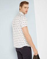 SOJAMMY Large floral print cotton shirt