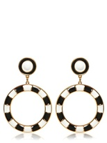 Moschino Brass Clip On Earrings