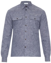 Tomas Maier Patch-pocket Brushed-cotton Shirt