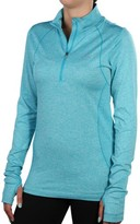 Nike Women's Dri-Fit Knit Half Zip Running Shirt-Jade-Medium