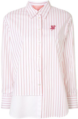Bapy By *A Bathing Ape® Contrast-Panel Pinstripe Shirt