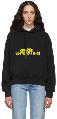 Off-White Black and Yellow Halftone Over Hoodie
