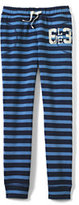 Classic Toddler Girls Pattern Track Pants-Navy Heather Stripe