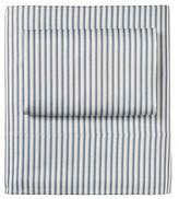 Serena & Lily Denim Ticking Stripe Crib Sheet