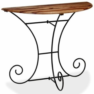 "Red Barrel Studioâ® Geogrea 35.4"" Solid Wood Console Table Red Barrel StudioA"
