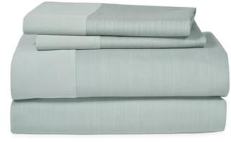 Michael Aram Striated Band 400 Thread Count Flat Sheet