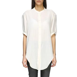 Saint Laurent Basic Shirt With Mandarin Collar
