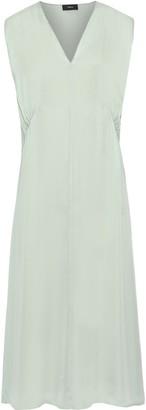 Theory Silk-charmeuse Midi Dress