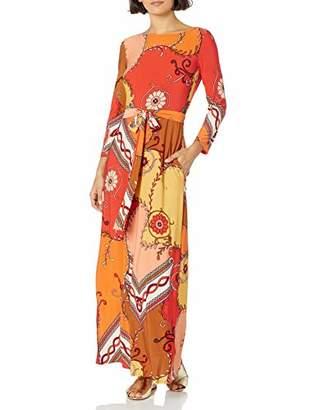 Donna Morgan Women's Petite 3/4 Sleeve Stretch Knit Jersey Maxi Dress