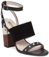 Louise et Cie Kellyn Studded Triple Strap Leather Sandals