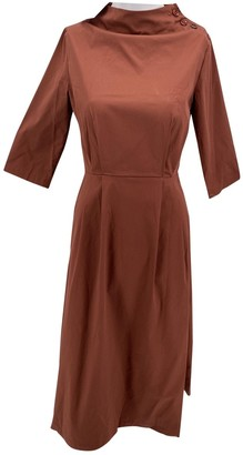 ALBUS LUMEN Brown Cotton Dress for Women