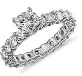 Golden Moon Women's Rings Silver - Cubic Zirconia & Silvertone Eternity Ring